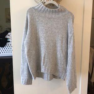 BP Oversized Gray Turtleneck Sweater